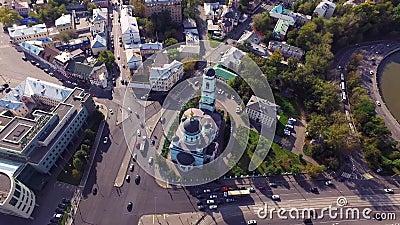 Moscou Sergius d'église de Radonezh banque de vidéos