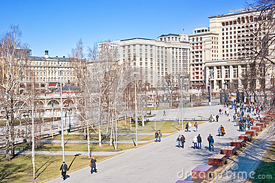 Moscow. Alexander Garden Editorial Stock Photo