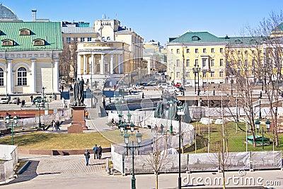 Moscow. Alexander Garden Editorial Photography