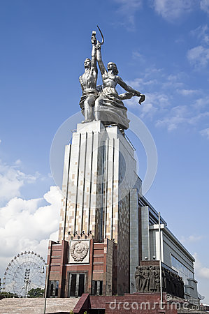 Free MOSCOW - AUGUST 12: Famous Soviet Monument Worker And Kolkhoz Woman (Worker And Collective Farmer) Of Sculptor Vera Mukhina On Au Stock Photos - 30732563