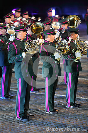 Belgian royal orchestra at Military Music Festival Editorial Stock Photo