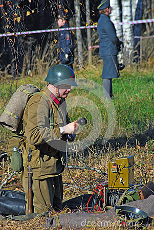 Moscow battle historical reenactment Editorial Photography