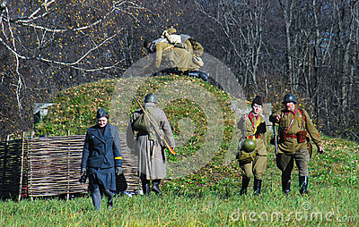 Moscow battle historical reenactment Editorial Image