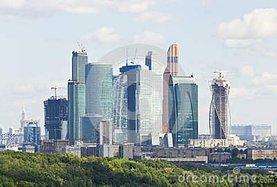 Moscow, business centre Moscow-city