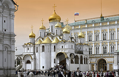 Moscow - Cathedral of the Annunciation  Editorial Photography