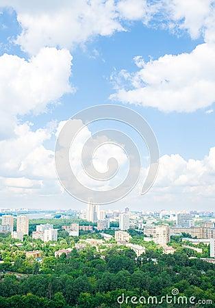 Moscow city landscape;