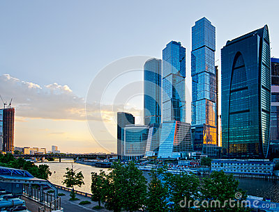 Moscow City. Moscow, Russia.