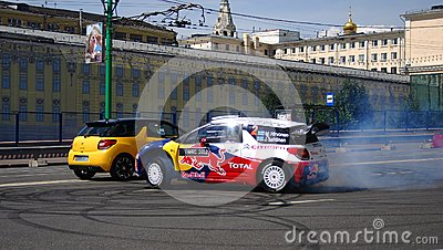 Moscow City Racing Editorial Stock Image