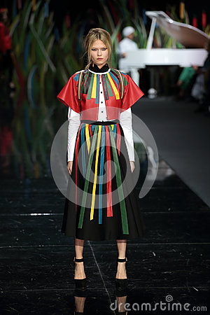 Moscow Fashion Week Editorial Stock Photo