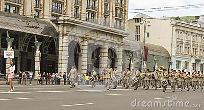 Moscow, festival of military orchestras Editorial Stock Image