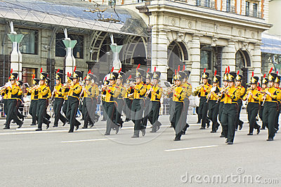 Moscow, festival of military orchestras Editorial Photography