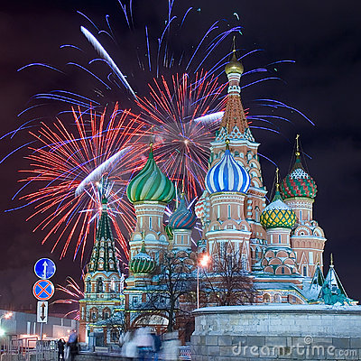 Free Moscow Firework Royalty Free Stock Photography - 18674687