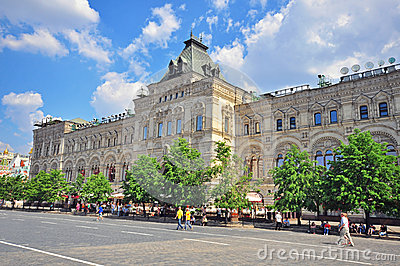 Moscow gum store on Red Square Editorial Stock Photo
