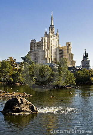 Free Moscow, High Rize Building Stock Photos - 17741873