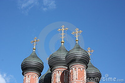 Moscow. Highly Petrovsky Monastery. Domes.