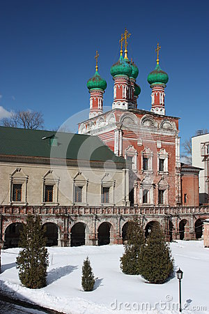 Moscow. Highly Petrovsky Monastery. Temple