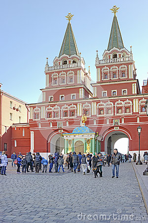 Moscow. Iberian Gate Editorial Photo