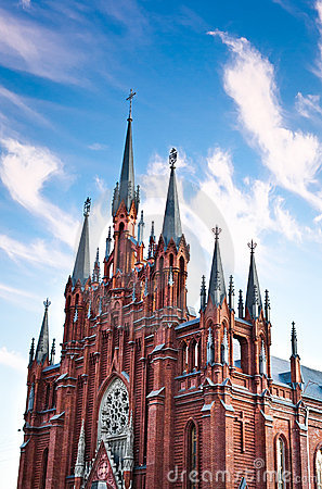 Moscow Immaculate Conception Catholic Cathedral Royalty Free Stock Images - Image: 21296329
