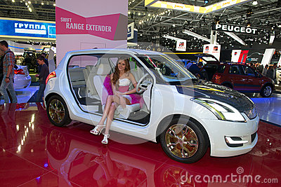 Moscow International Automobile Salon 2012. Suzuki Editorial Stock Photo