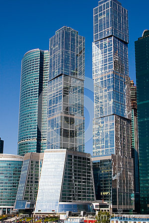 Moscow International Business Center, Moscow-City Editorial Stock Photo