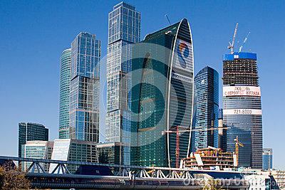 Moscow International Business Center, Moscow-City Editorial Stock Image