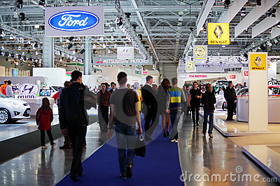 Moscow international motor show 2010 Editorial Image