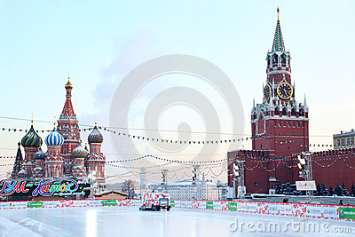 GUM-Skating rink on the Red Square Editorial Image