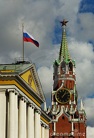 Free Moscow Kremlin And Russian State Symbols Royalty Free Stock Photography - 11328727
