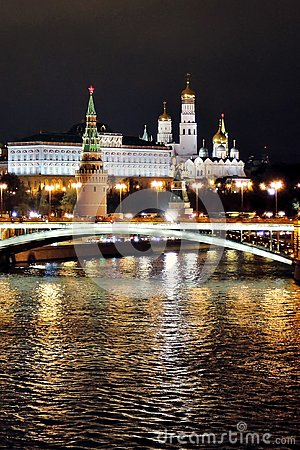 Free Moscow Kremlin At Night. Color Photo. Stock Photography - 104790302