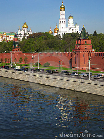 Moscow, Kremlin with cathedrals