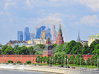 Moscow Kremlin and moscow-city district