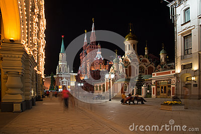 Moscow Kremlin by night,