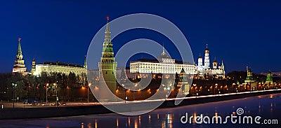 Moscow Kremlin night scene