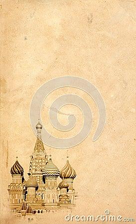 Moscow landmark background