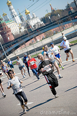MOSCOW – MAY 2: Participants in action at XVII M Editorial Image