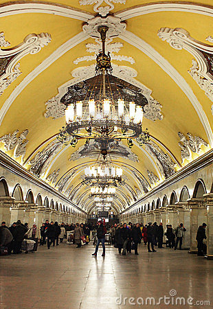 Moscow Metro Editorial Photography