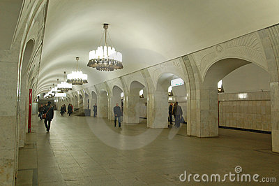 the moscow metro interior of station pushkinskaya stock photos image 23021063. Black Bedroom Furniture Sets. Home Design Ideas