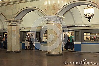 Moscow metro. Russia Editorial Stock Photo