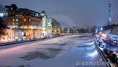 Moscow night historic place