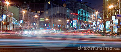 Moscow night Editorial Stock Photo