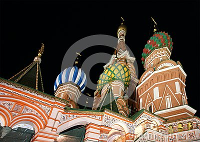 Moscow at night, Russia, Red Square