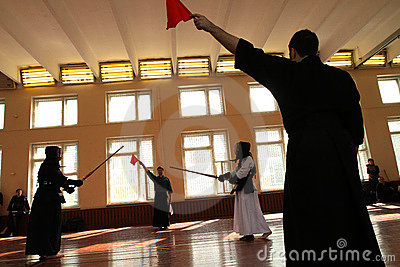 Moscow Open Tournament on Kendo Editorial Stock Photo