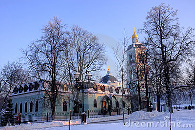 Moscow park Tsaritsyno in winter