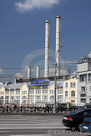 Moscow. The power station in city center Editorial Photography