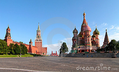 Moscow. The red area.