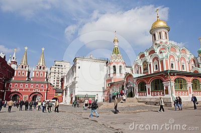 Moscow Red square Editorial Stock Image