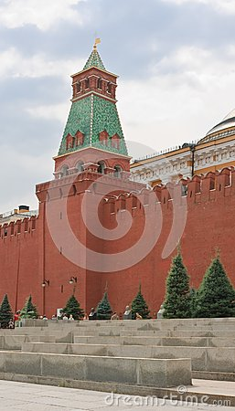 Moscow. Red Square.  Senate Tower Editorial Image
