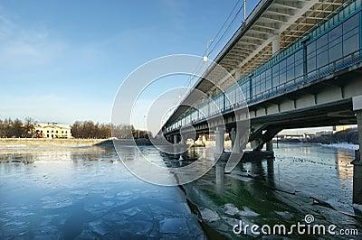 Moscow River, Luzhnetskaya Bridge (Metro Bridge)