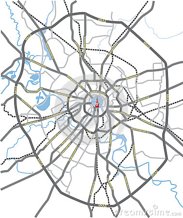 Free Moscow Roads Map Stock Images - 26779494