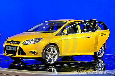 MOSCOW, RUSSIA - AUGUST 31: FORD FOCUS new model Editorial Stock Photo